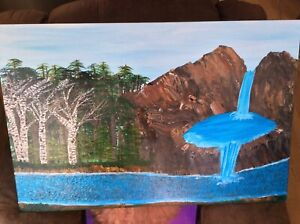Water fall plus  new painting