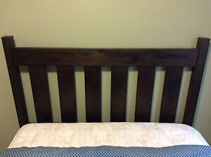 Custom made headboard (queen size) and two bedside tables