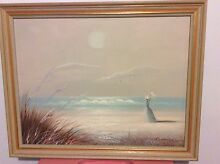 Grey framed painting Blair Athol Campbelltown Area Preview