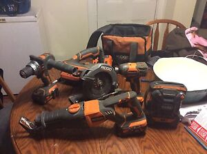 Ridgid 18 v power tools