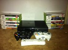 Xbox 360 slim 250gb 2x controllers 23 games Mount Barker Mount Barker Area Preview