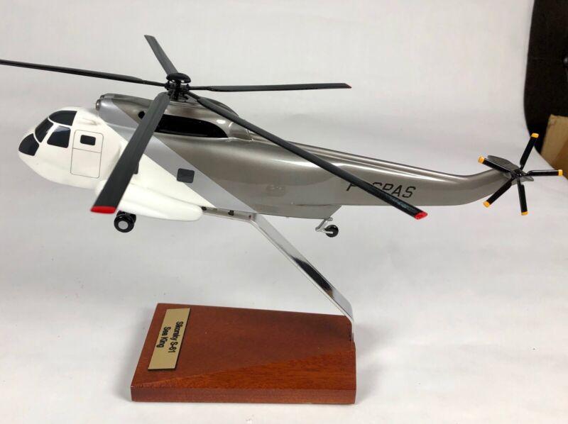 Bader Models Helicopter Sikorsky S-61 Sea King Mahogany Display Model