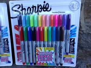 "Sharpie ""Color Burst"" Markers, Packs of 24 Fine and Ultra Fine"