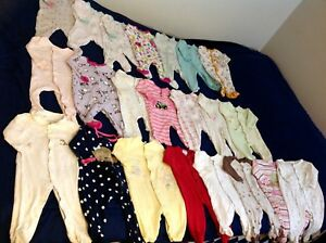 0-6months baby girl clothes (100 pieces)