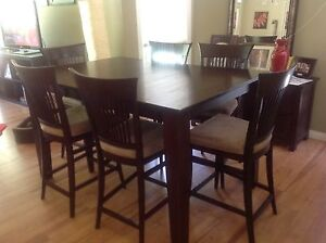 Solid Oak Pub Height table and chairs