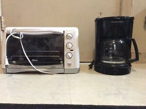 Coffee maker and toaster oven