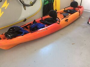 2 person Kayak - Wilderness systems Tarpon 135t with trolley Shellharbour Shellharbour Area Preview