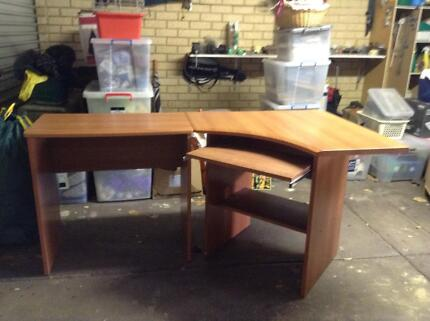 Computer Desk plus return Woodvale Joondalup Area Preview