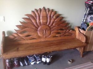 Hand Carved Mexican Sun Bench
