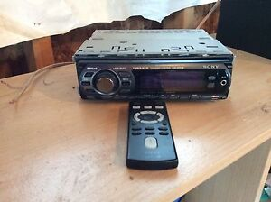 Sony car stereo CD player with remote.