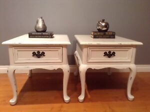 2 Shabby Chic Gibbard Side Tables b4andafter