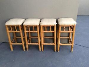 Cane vintage/retro stools Menai Sutherland Area Preview