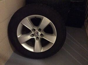 4 Winter Tires And Rims Of Dodge Charger