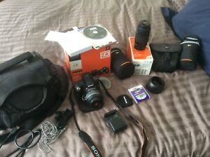 Used Sony SLT A33 Camera And Lenses