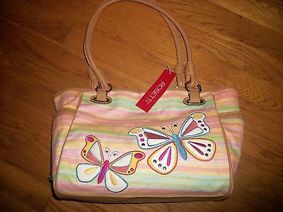 NEW ROSETTI SAVANNAH GARDEN DOUBLE HANDLE SHOULDER BAG SUNRISE BUTTERFLY -