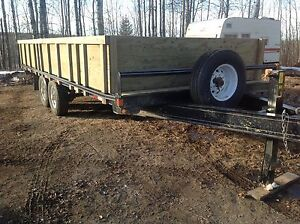 20' Double A Trailer made in Alberta.