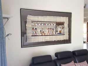 Framed Eqyptian  Papyrus Painings Capital Hill South Canberra Preview