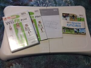 Wii balance board and Wii fit