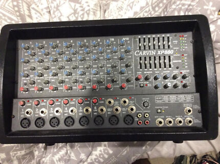 Carvin XP880 8 channel 800 watt stereo powered mixer