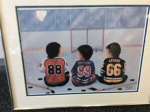 Hockey Greats Painting - Signed by the Artist