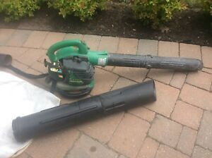 Leaf blower with vacuum bag attachments