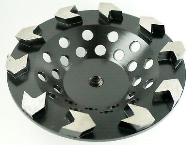 - 7in Diamond cup wheel - Arrow segmented for Fast Grinding , Coarse, 5/8