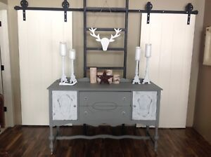 Shabby chic painted side board