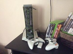 X-Box 360 with wireless controls & games