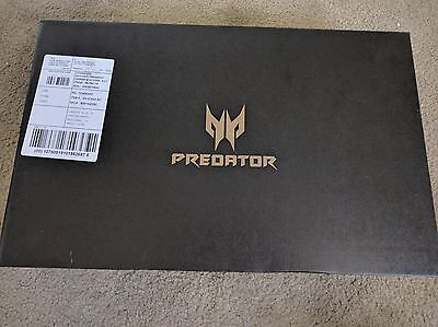 ACER Predator Helios 300 i7-7700HQ Gaming Laptop 16GB RAM SSD Nvidia 1060 VR