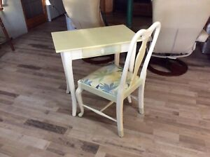 Lovely Refinished Desk and Chair