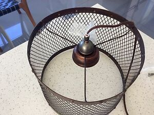 Round metal caged ceiling light Hamilton Brisbane North East Preview