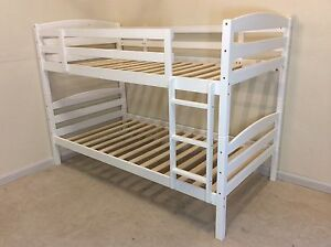 White king single bunk bed wooden SYDNEY DELIVERY & ASSEMBLY Windsor Hawkesbury Area Preview