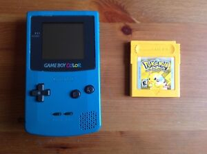 (SOLD) Gameboy Color (Teal) and Pokemon Yellow (Pikachu Edition)