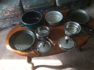 Pots and frying pans,
