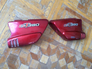 1972 Suzuki OEM GT380 Jamaican Red  Left Right Sidecovers