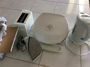 New iron, used kettle, toaster and George Form grill. Pickup only Murray Bridge Murray Bridge Area Preview