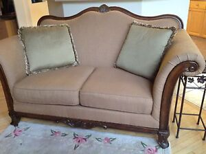 Exquisite traditional couch and loveseat