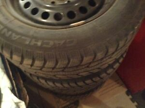 4 Winter tires & Rims (Like New)  Size 15