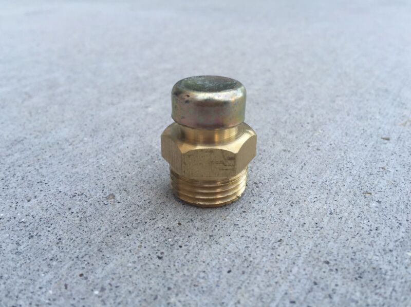 "Gearbox 1/2""-14 NPTF Pressure Breather Vent Brass Plug (09-008)"