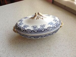 Wedgwood dinner service Blue and White with gold trims. Huonville Huon Valley Preview