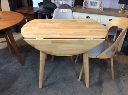 Solid Oak Dropside Table and Chairs circa 1930s Dining Tables