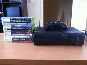 Limited Edition Xbox 360(250gb) + Wireless adapter + 10 games West Hoxton Liverpool Area Preview