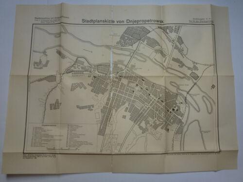 German WWII WW2  Russia  Dnjepropetrowsk  Map   Plan   1941