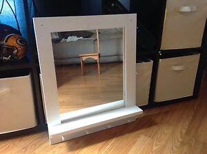 "White mirror 24 1/2"" tall X 20"" wide"