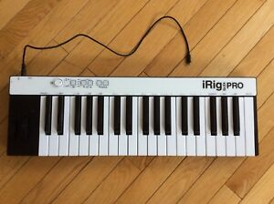 iRigs Key Pro full size 37 key midi controller keyboard