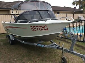 4.5 mtr Stessco Aluminium runabout with trailer Banksia Beach Caboolture Area Preview