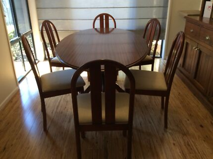 Solid Timber Oval Table and 6 Chairs Sinnamon Park Brisbane South West Preview