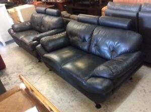 BARGAIN Leather Sofas Wangara Wanneroo Area Preview