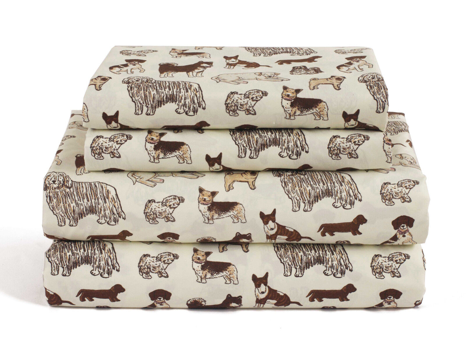 Twin, Full, Queen or King Dog Sheet Set Microfiber Puppy Pet