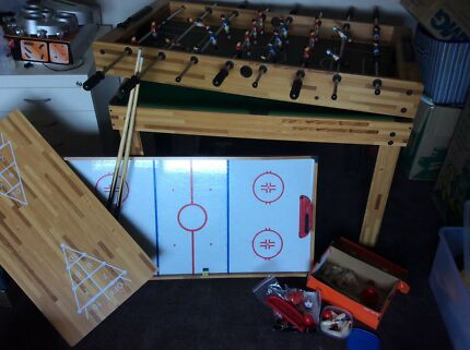 Foosball 4 In 1 Foosball, Pool, Roller Hockey And 10 Pin
